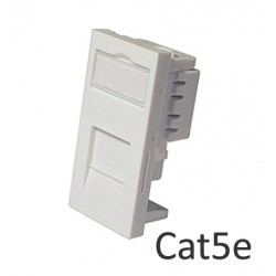 Cat5e shuttered euro network module RJ45 - low profile LP-MODC5E