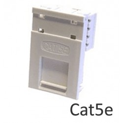 Cat5e LJ6C floor box network module with name plate LP-LJ6C5E