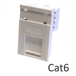 Cat6 LJ6C floor box network module with name plate LP-LJ6C6