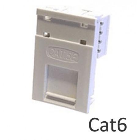 Cat6 LJ6C floor box network module with name plate LP-LJ6C6