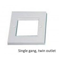 Twin outlet face plate single gang low proflie LP-SGFP-T-N