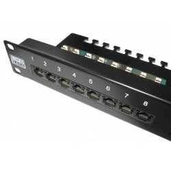 24 port Cat6 patch panel PPAN-24-C6-VLC with vertical punchdown