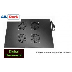 4-way fans with digital thermostat roof mount fan tray for 600mm deep Allrack FANR4600T