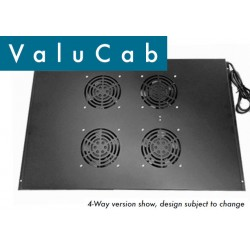 2-way roof mount fan tray for 600mm deep ECO NetCab CABFAN-FE-2RM