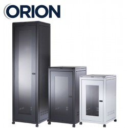 21u 600x800 floor standing data comms rack cabinet FS21-6-8 black or grey