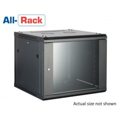 15u 450mm deep Allrack wall mount rack cabinet comms enclosure CAB15WB450 black and grey