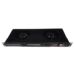 2-way fans with digital thermostat rackmount FANRK2T