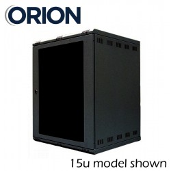 9u 600x400 wall mount data comms rack network cabinet WM9-6-40 black or grey