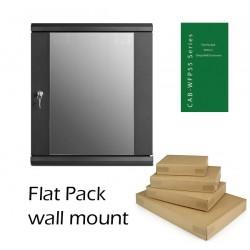 6u 450mm deep Flat Pack wall mount network data comms rack cabinet CAB-WFP55-6U450