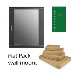 9u 450mm deep Flat Pack wall mount network data comms rack cabinet CAB-WFP55-9U450