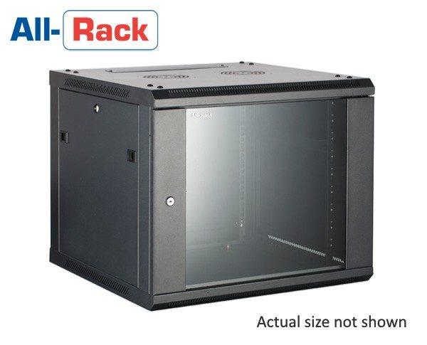 18u 550mm deep Allrack wall mount rack cabinet comms enclosure CAB18WB550